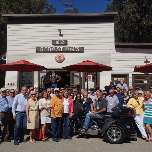 ICAA tour group in front of Sebastian's.